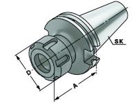 Spannzangen Spannfutter - ER25, SK 50, DIN 69871, Form AD/B, G6,3 bei 15.000 1/min
