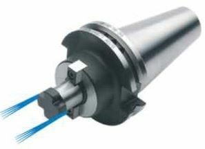Kombi-Aufsteckfräserdorn 27 mm mit stirnseitiger Kühlung, SK 40, DIN 69871, Form AD/B, G6,3 bei 15.000 1/min