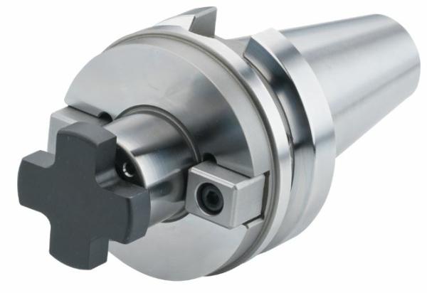 Schüssler Kombi-Aufsteckfräserdorn - Cool Tool - 27 mm, SK 40, DIN 69871, Form AD/B, G2,5 bei 25.000 1/min