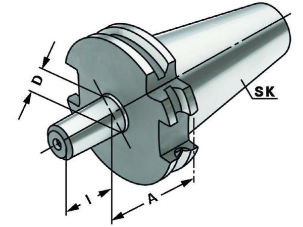Bohrfutteraufnahme, SK 30, DIN 69871, Form A, G6,3 bei 15.000 1/min