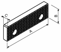 Schraubstock-Backe Fresmak ARNOLD standard, geriffelt,...