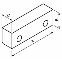 Schraubstock-Backe Fresmak ARNOLD standard, glatt, weich,...
