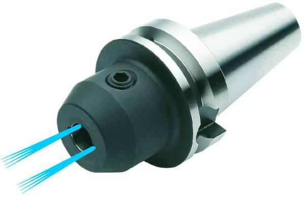 Weldon Spannfutter 8 mm mit Kühlkanälen, MAS BT 40, ISO 7388-2, JIS B 6339, Form AD/B, G6,3 bei 15.000 1/min