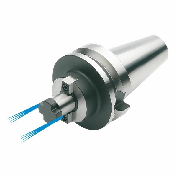Messerkopfaufnahme mit stirnseitiger Kühlung, MAS BT 50, ISO 7388-2, JIS B 6339, Form AD/B, G6,3 bei 15.000 1/min