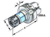 Synchron-Gewindeschneidfutter System ER nach DIN 6499,...