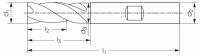 VHM HPC Schaftfräser Typ UNI, Z4, 45°, EF, HB
