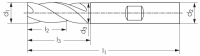 VHM HPC Präzisions-Schlichtfräser Typ UNI, Z6-8, 48°, EF, HA