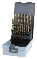 HSSE-Co5 Spiralbohrer Set 25-teilig in Kunststoff-Box,...