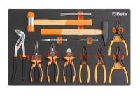 BETA Easy Werkzeugsortiment - Zangen & Hammer,...
