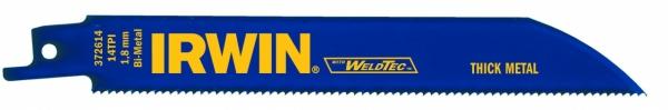 IRWIN Bi-Metall-Säbelsägeblätter für Metallschnitt 624R, 150 mm, 24TPI, 1 Pkg. = 5 Stk.