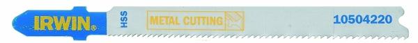 IRWIN HCS Stichsägeblätter für Metall - T-Schaft HSS, 92 mm, Progressiv 17-23TPI, T118A, 1 Pkg. = 5 Stk.