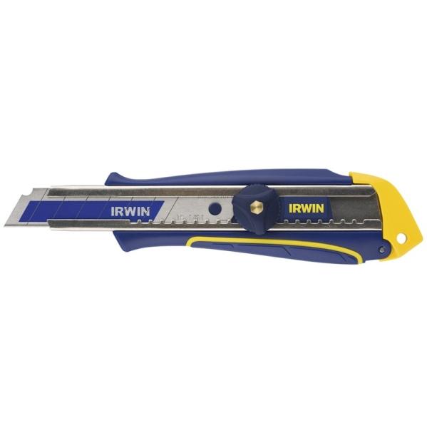IRWIN Professional Abbrechklingenmesser mit Feststellschraube, Bi-Metall Klinge - 18mm