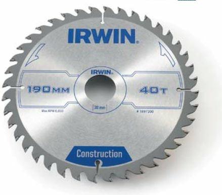 IRWIN Hand Held HM-Kreissägeblatt 230x2,8x30 mm, 40 Zähne ATB