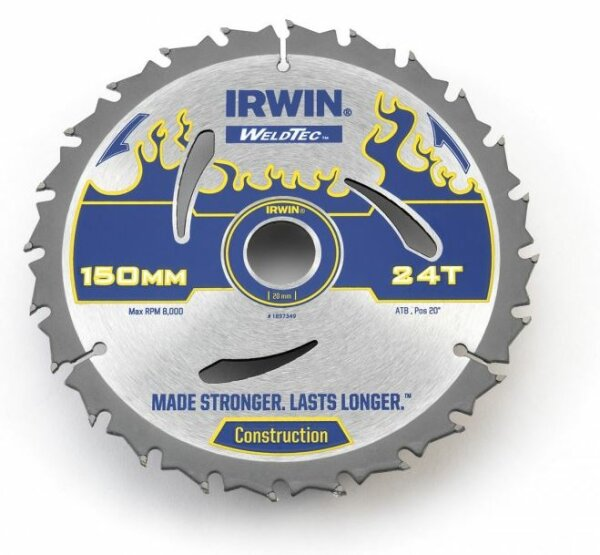 IRWIN Weldtec HM-Kreissägeblatt 184x2,4x30 mm, 24 Zähne ATB