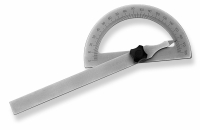 SCALA Winkelmesser 120x80 mm, mattverchromt, Messbereich...