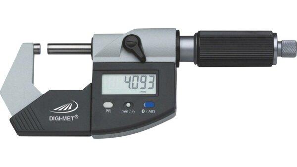 Digitale Bügelmessschraube 25-50 mm, Ablesung 0,001 mm, DIN 863-1, Datenausgang
