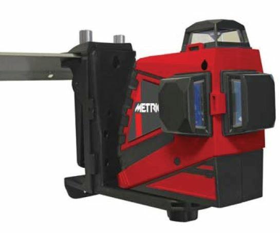 METRICA 3D RED Laser-Nivelliergerät inkl. Wandhalter (ersetzt ME 61400)