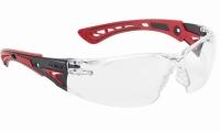 Schutzbrille Bolle Rush+ rot/schwarz, klar