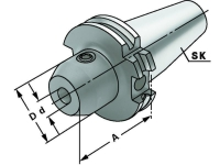 Weldon Spannfutter 8 mm, SK 40, DIN 69871, Form AD, G6,3 bei 15.000 1/min