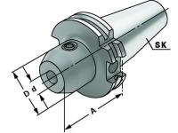 Weldon Spannfutter 12 mm, SK 40, DIN 69871, Form AD, G6,3 bei 15.000 1/min